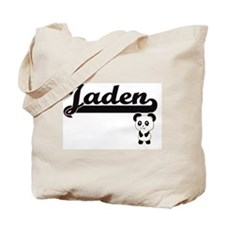 Jaden Classic Retro Name Design with Pand Tote Bag