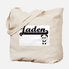 Jaden Classic Retro Name Design with Pand Tote Bag