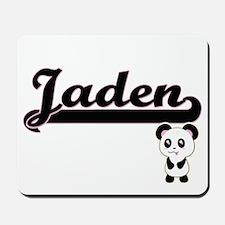 Jaden Classic Retro Name Design with Pan Mousepad