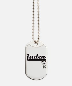 Jaden Classic Retro Name Design with Pand Dog Tags