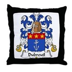 Dubreuil Family Crest  Throw Pillow