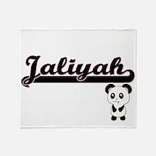 Jaliyah Classic Retro Name Design wi Throw Blanket