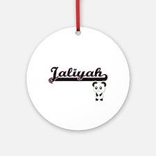 Jaliyah Classic Retro Name Design Ornament (Round)