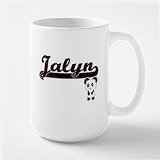 Jalyn Classic Retro Name Design with Panda Mugs