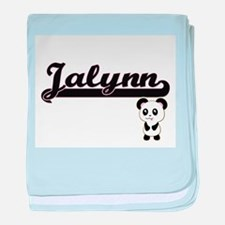 Jalynn Classic Retro Name Design with baby blanket