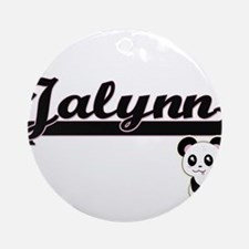 Jalynn Classic Retro Name Design Ornament (Round)