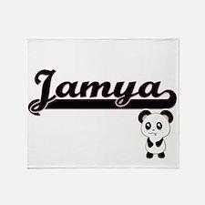 Jamya Classic Retro Name Design with Throw Blanket
