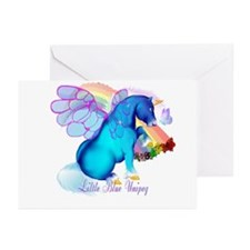 Little Blue Unipeg Greeting Cards (Pk of 10)