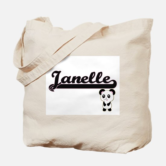 Janelle Classic Retro Name Design with Pa Tote Bag