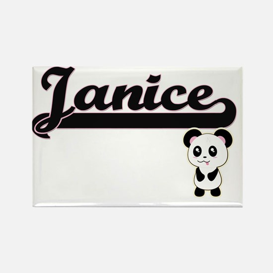 Janice Classic Retro Name Design with Pand Magnets