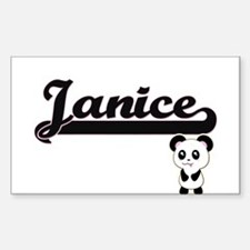 Janice Classic Retro Name Design with Pand Decal