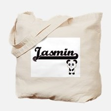 Jasmin Classic Retro Name Design with Pan Tote Bag