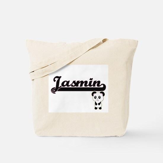 Jasmin Classic Retro Name Design with Pan Tote Bag