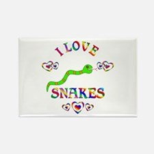 I Love Snakes Rectangle Magnet