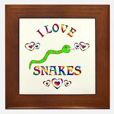 I Love Snakes Framed Tile