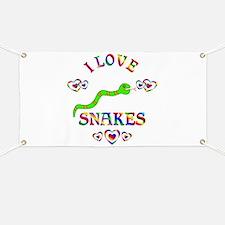 I Love Snakes Banner