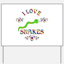 I Love Snakes Yard Sign