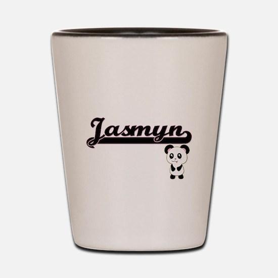 Jasmyn Classic Retro Name Design with P Shot Glass