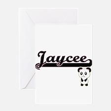 Jaycee Classic Retro Name Design wi Greeting Cards