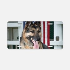 German Shepherd Dog Aluminum License Plate