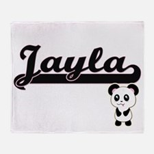 Jayla Classic Retro Name Design with Throw Blanket