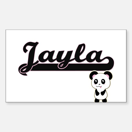 Jayla Classic Retro Name Design with Panda Decal