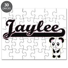 Jaylee Classic Retro Name Design with Panda Puzzle