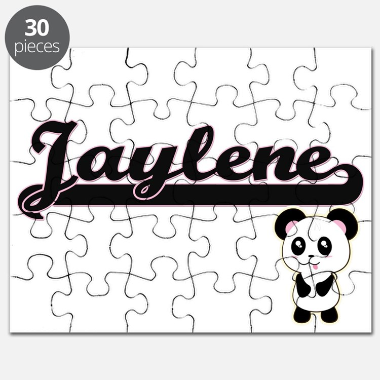 Jaylene Classic Retro Name Design with Pand Puzzle