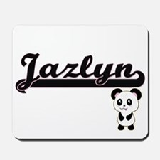 Jazlyn Classic Retro Name Design with Pa Mousepad