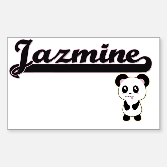 Jazmine Classic Retro Name Design with Pan Decal