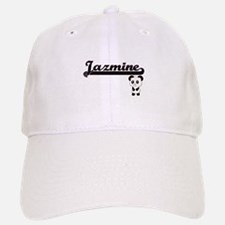 Jazmine Classic Retro Name Design with Panda Baseball Baseball Cap