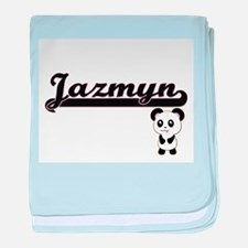 Jazmyn Classic Retro Name Design with baby blanket