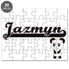 Jazmyn Classic Retro Name Design with Panda Puzzle