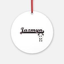 Jazmyn Classic Retro Name Design Ornament (Round)