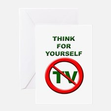 Think For Yourself Greeting Card