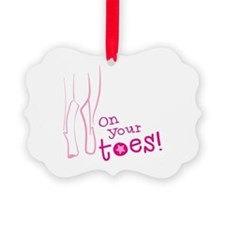 On your toes ballet Ornament
