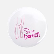 On your toes ballet Button