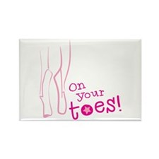 On your toes ballet Magnets