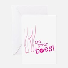 On your toes ballet Greeting Cards