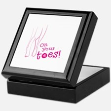 On your toes ballet Keepsake Box