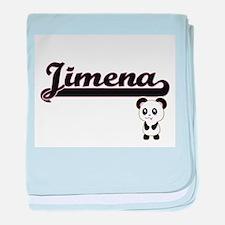 Jimena Classic Retro Name Design with baby blanket