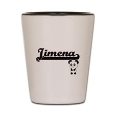 Jimena Classic Retro Name Design with P Shot Glass