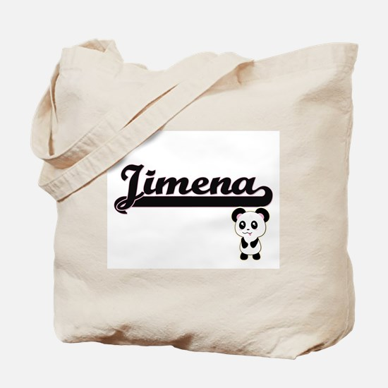 Jimena Classic Retro Name Design with Pan Tote Bag