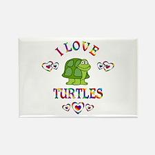 I Love Turtles Rectangle Magnet (10 pack)