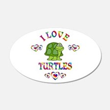 I Love Turtles Wall Decal