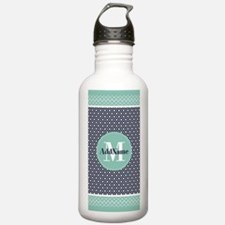 Mint Navy Moroccan Qua Water Bottle