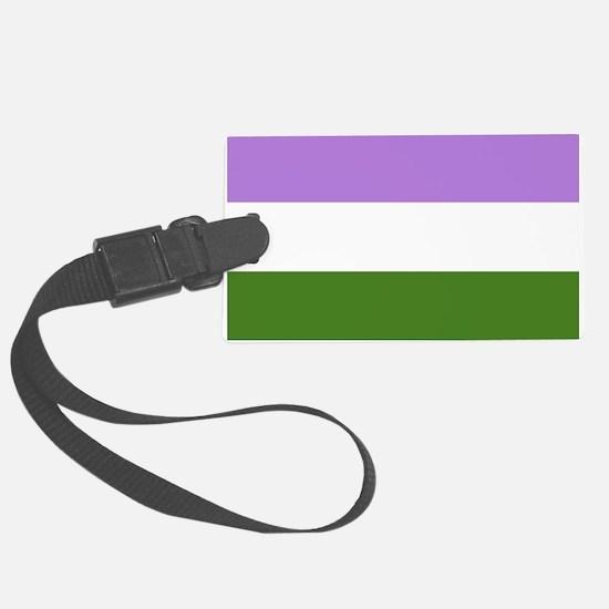 Genderqueer Pride Flag Luggage Tag