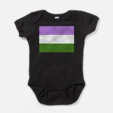 Genderqueer Pride Flag Baby Bodysuit