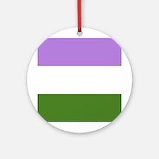 Genderqueer Pride Flag Ornament (Round)