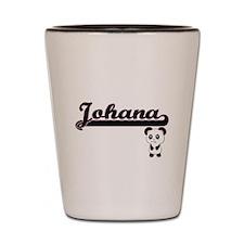 Johana Classic Retro Name Design with P Shot Glass